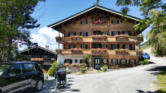 Aurach bei Kitzbuehel, Αυστρία: prachtig huis bij de ingang