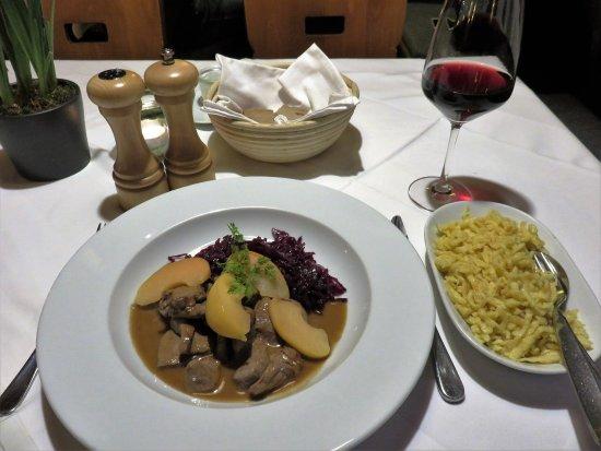 Posthorn Hotel-Restaurant : Venison stew with Spätzle