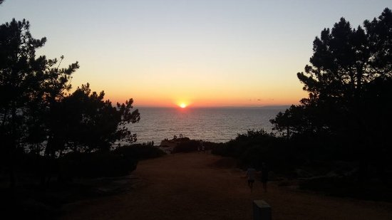 Melides, Portugalia: Sunset viewed from beanbag/hammock chillout area