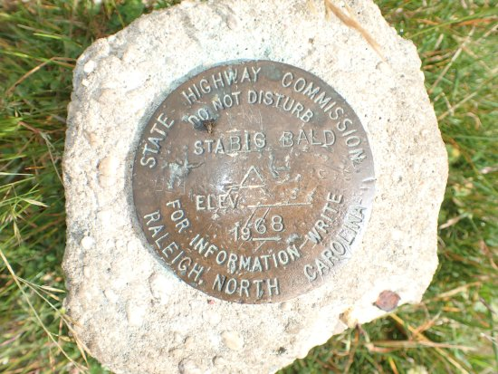 Mars Hill, NC: Geo Marker on Big Bald