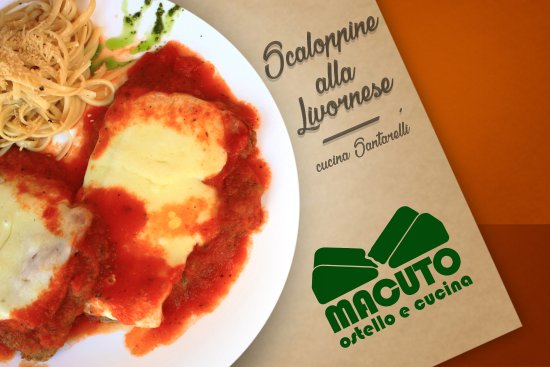 Santander Department, Colombia: Menú Cucina Santarelli MACUTO: Scaloppine alla Livornese