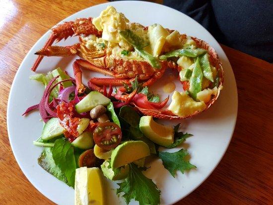 Huonville, Australia: Garlic butter crayfish