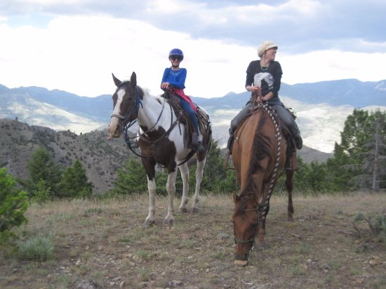 Gardiner, MT: Riding in the Gallatin Mountain wilderness.