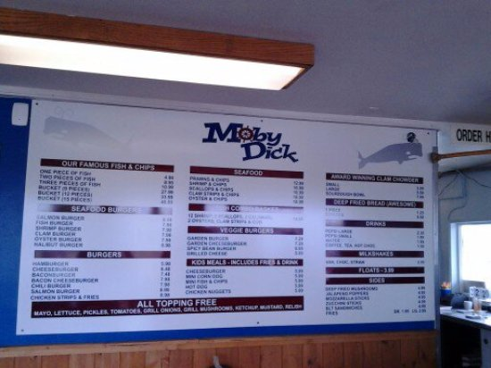 Ocean Shores, WA: The updated menu on the wall.