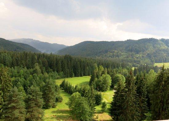 Брезно, Словакия: Výhled z pokoje.