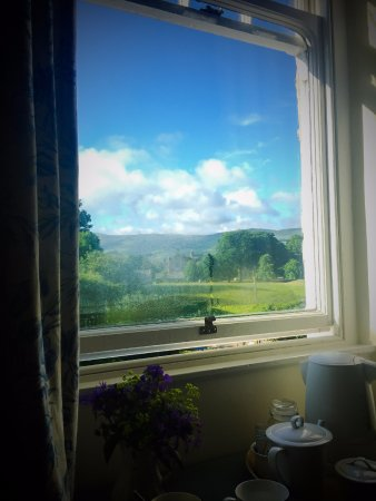 Sedbergh, UK: view from the yellow room