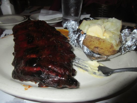 Very Good Pork Ribs and Baked Potato, Fifty Grand Steakhouse, Pollock Pines, CA