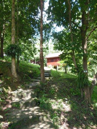 Nam Lik Eco-village: Bungalows set around the restaurant