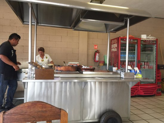 Taqueria EL Paisa: Everything is cooked in the open. What you see is what you get. Simple, good food.