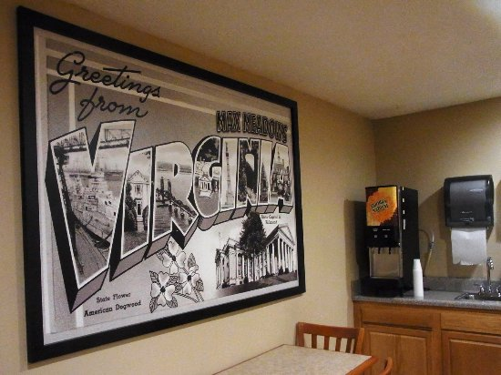 Max Meadows, Wirginia: Mural in the dining area