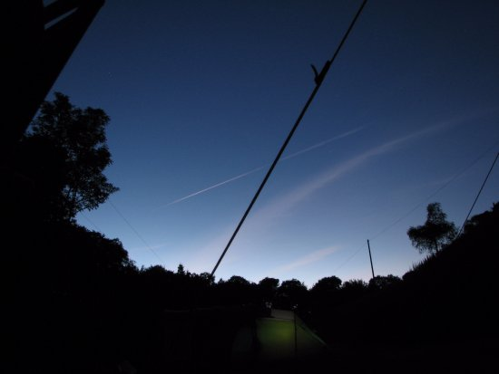 Priory Mill Farm Campsite: Peaceful, the evening sky at Priory Mill Farm.