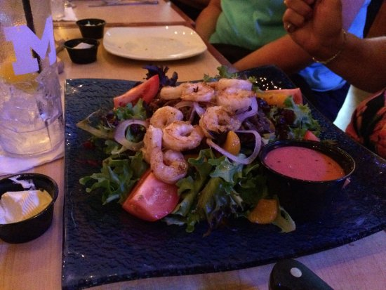 Whitmore Lake, MI: The Michigan salad with the shrimp option