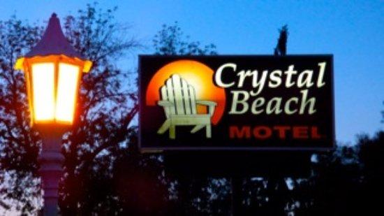 Crystal Beach Motel The Sign