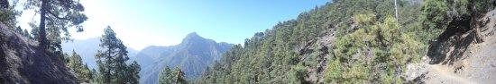 Caldera de Taburiente National Park : Panorâmica do parque. Rota Los Brecitos - Zona de Acampada