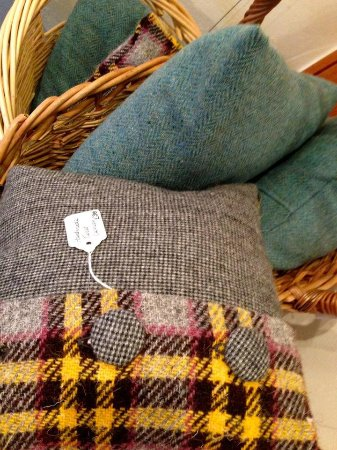Acharacle, UK: Harris Tweed cushions