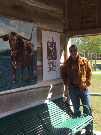 Round Top, TX: The artist, John Lowery