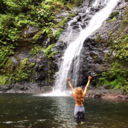 El Silencio Lodge & Spa: One of the waterfalls we hiked to -- we had the place to ourselves!