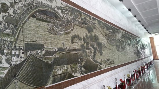 Ancient City Wall of Chaozhou: Mosaic replicating a famous Chinese painting, at the Pocelain muzium.