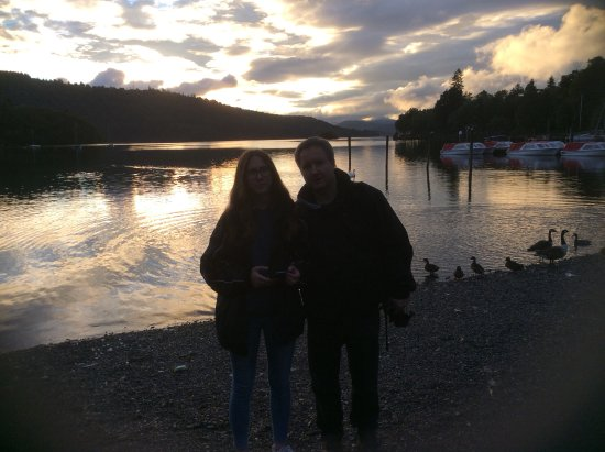 The Windermere Hotel: Lake Windermere at sunset