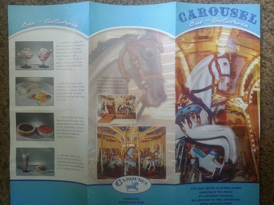 Carousel Gelateria and Bar: Carousel Brochure (front view)