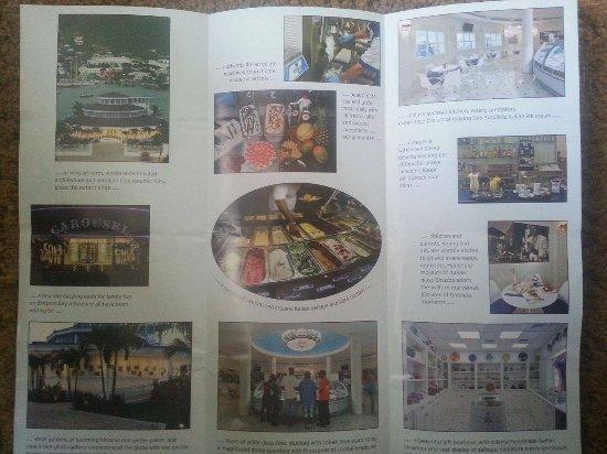Carousel Gelateria and Bar: Carousel Brochure (rear view)