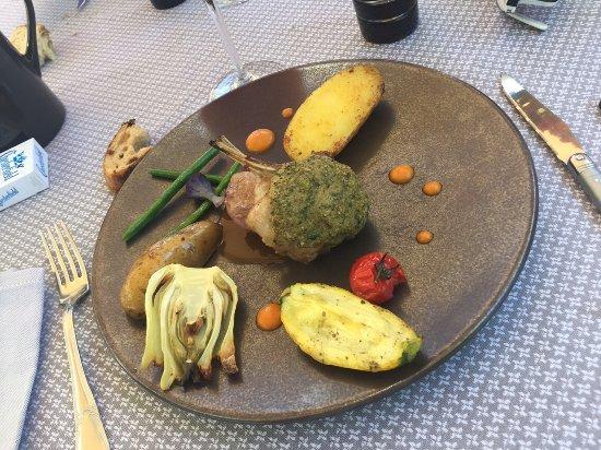 Limonest, ฝรั่งเศส: Agneau cuisiné en 2 façon