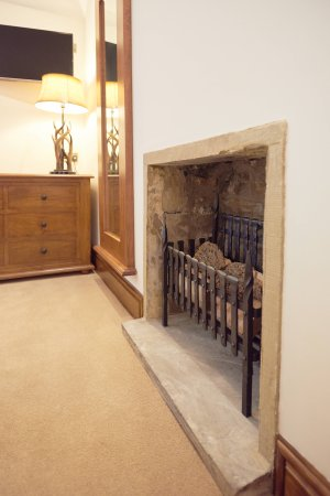 Bell Busk, UK: The Swaledale Suite original feature fireplace