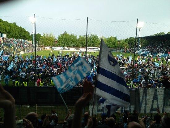 Stadio Paolo Mazza: Promotion party: SPAL v Arezzo