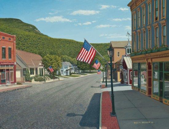 บริสตอล, เวอร์มอนต์: My oil painting of Main Street Bristol VT