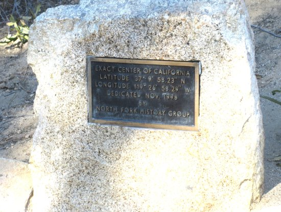 Exact Center of California: Exact Geographical Center of Calfiornia, North Fork, CA