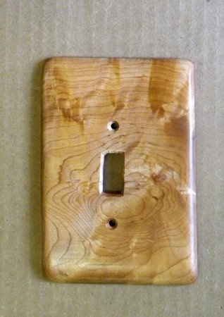 Bristol, VT: wood light switch covers
