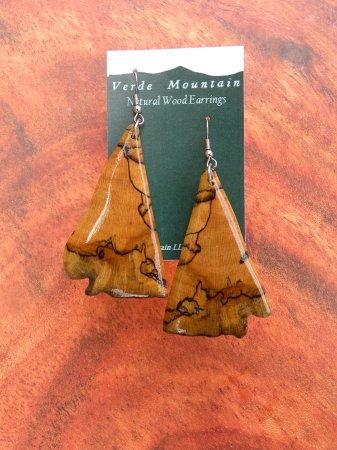 Bristol, VT: spalted maple earrings