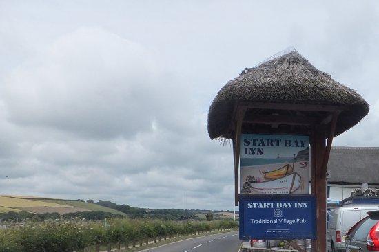 Torcross, UK: The Inn Sign