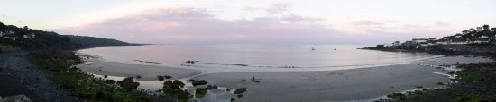 Coverack Bay panorama from the beach.