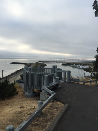 San Mateo, Californië: Coyote Point Beach Lookout Point