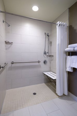Holiday Inn Express King Of Prussia: Accessible Bathroom with Roll-In Shower