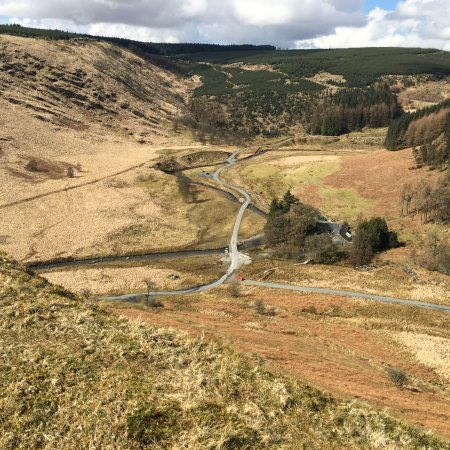 Trallwm Forest Cottages: View from one of the mountains nearby.