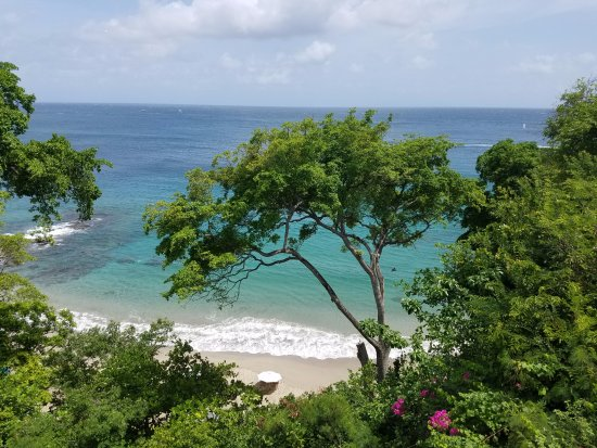 Cap Estate, St. Lucia: View from bottom floor of Pink Cedar Villa