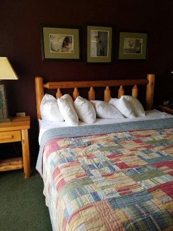 Warrens, WI: Suite with a king size bed