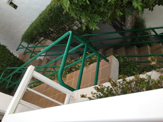 View from our balcony pool a the drops from the railings for On our balcony