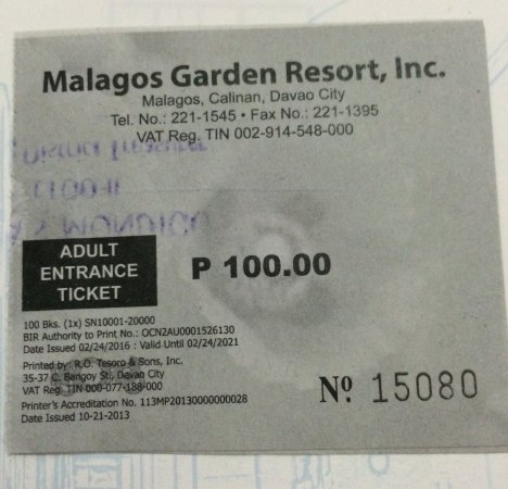 Malagos Garden Resort: Adult entrance ticket