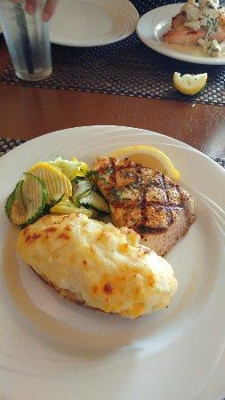 Ocean View, DE: Swordfish with zucchini and twice baked potato