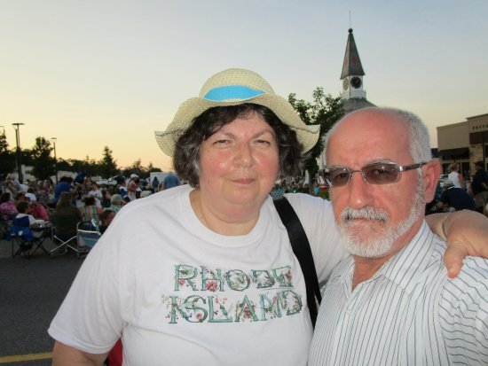 Cranston, RI: Louis and i at the concert.