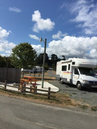 Eureka RV Park and Campground: This is site 24 which we paid for at KOA Eureka. They moved us to a spot that was not equal to t