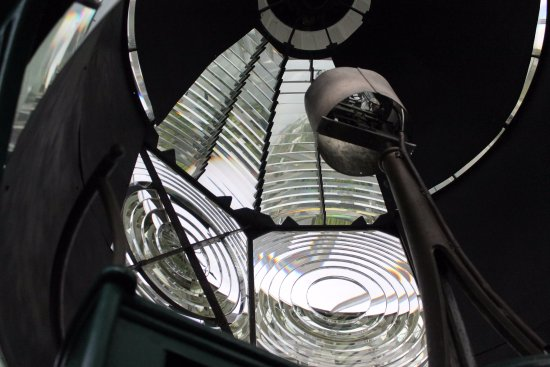 Jupiter, FL: looking up at light in the lighthouse