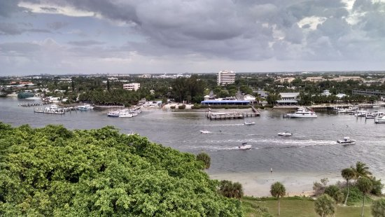 Jupiter, FL: storm clouds rolling in as we stood at top of lighthouse