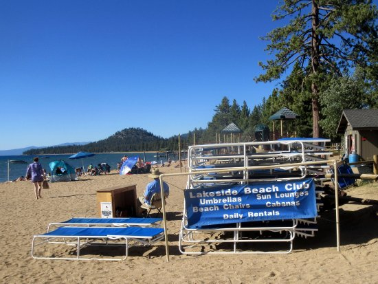 Chairs Etc For Lakeside Beach South Lake Tahoe Ca