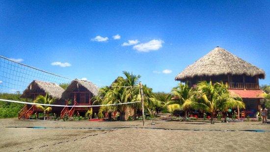 Poneloya, Nicaragua: Lodge during the day