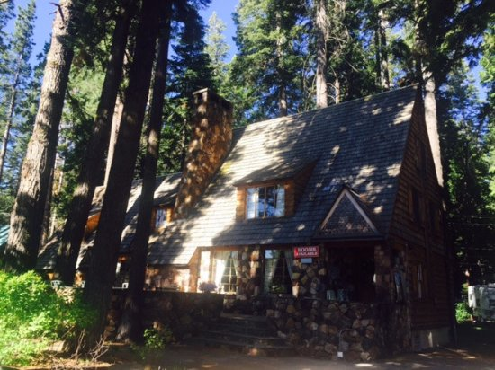 Homewood, Californien: Exterior of Lodge within evergreens