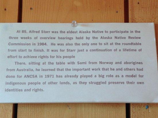 Nenana, AK: a little bit about Alfred Starr Sr.